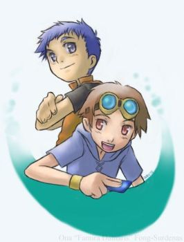 Two Tamers - Jenrya and Takato by famira