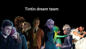 Tintin dream team (with their partners) by Ortizandrea