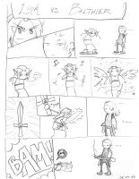 Link vs. Balthier by moth-eatn