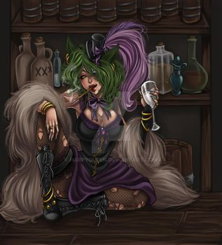 saloon cleo in color by Harpyqueen