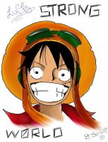 LUFFY // STRONG WORLD by Smile-smiley