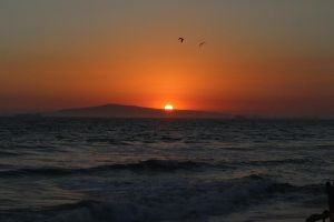 Sunset over Catalina Island by CodySaunders