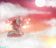The Moon and the Sun by rafaelathecat1999