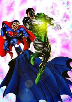 Superman, Batman and Green lantern. by tonydax
