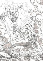 Wolverine vs Ripclaw by marvelmania
