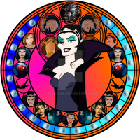 Narissa stained glass by jeorje90