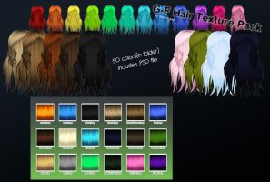 MMD G-F hair texture pack+DL by Green-Fighter