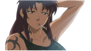 Revy / Two Hands ~ Black Lagoon [RENDER] by Kirika88