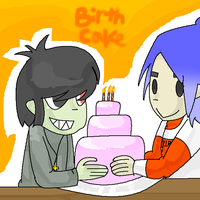 Muds and 2D's birthcake by Lugia439