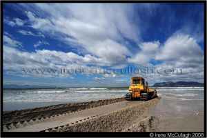 Bulldozing the Beach by substar