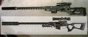 Nerf Fallout Sniper Rifle WIP3 by Hypercats