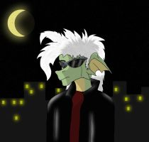 Sunglasses at night. by Dragon-Furry