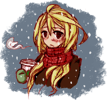 Coffee Break Colored 2 by AidennLie