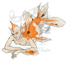 Merman - Goldfish [Auction: Closed] by ResidualAdopts