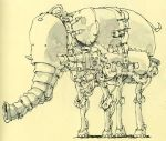 robotic elephant by MattiasA
