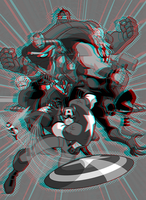 Avengers Earth's Mightiest Heroes 3D Anaglyph by xmancyclops