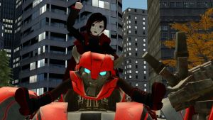 Ruby Rose teams up with Cliffjumper by kongzillarex619