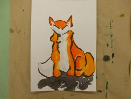 Fox with Shadow by Aneirin-Aryon