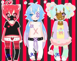 WOOO MORE NO-THEME ADOPTS (CLOSED) [AUCTION] by lifeforce10