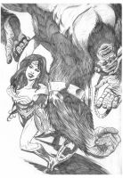 Wonder Woman versus Grodd 2 by BrianAW