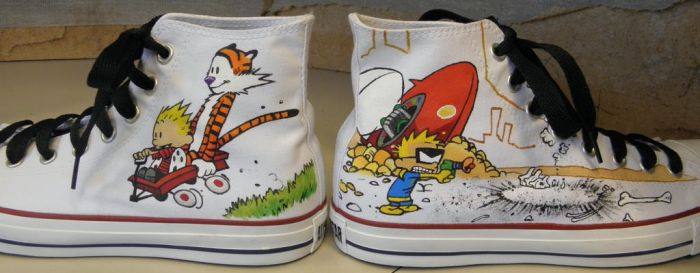 Calvin and Hobbes buck49shoes by Squadallama