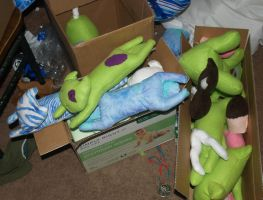 Kotoricon Plushies Waiting to be finished by LilWolfStudios