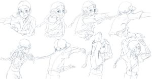 Katara Bending Study Sketches by Nylak