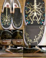 LotR Gondor shoes by one-crazy-fox