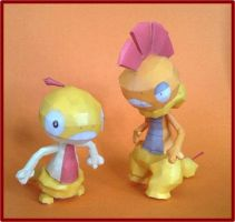 Scraggy Scrafty papercraft by javierini