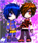 J-Rock L and Light Chibis by night-burner