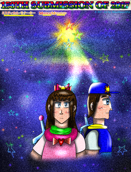 Watercolor space (150th submission of 2017) by BlueMario1016