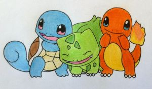 Original Starter Pokemon by eotree46