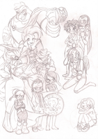 PKNA people.. - pencil preview by Solvernia