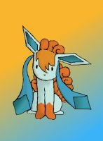Vulpix Glaceon Fusion by A9er9erWOLF