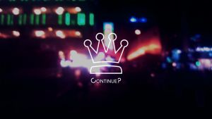 Continue? Neon Style Wallpaper (2560 x 1440) by CupNoodleSoup