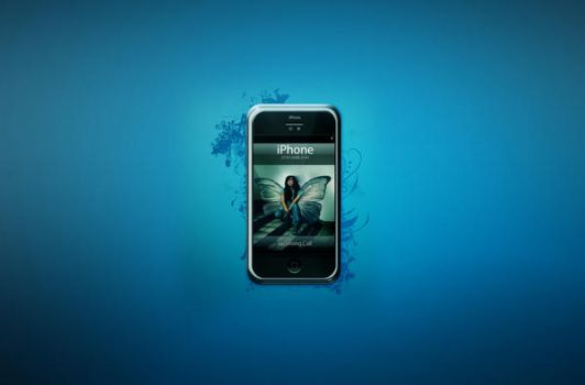 Iphone blue by design-lo