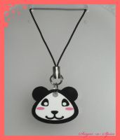 Panda cell phone Charm by White0Khan0Bastet