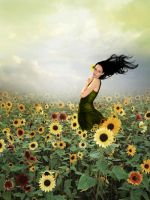 Field Of Flowers by xvintage-hearts