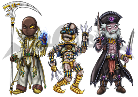 Soul Calibur IV: Chibis Set 5 by Lukael-Art