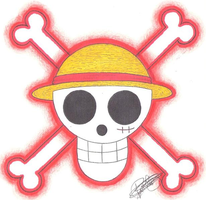 Monkey D. Luffy Pirate-Emblem. by LoLoOw