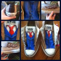 Tenth Doctor, Doctor Who Shoes by RaveGates