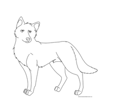 Free Wolf Dog Template by BehindClosedEyes00