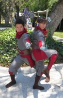 Equalist!Korra and Mako by Lily-P