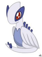 Art Trade-Chibi Lugia by Zuriii
