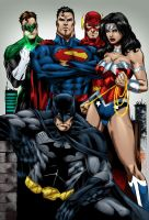 Justice League - Marcio by MarcBourcier