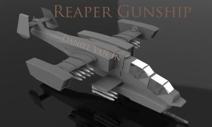 Reaper Gunship I by Quesocito