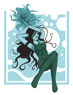 Aqua Queen by fartherfromlonely222