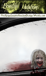 Beautiful Mutations ~ Bloody car window and girl by VelmaGiggleWink