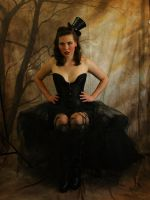 black corset sitting by magikstock