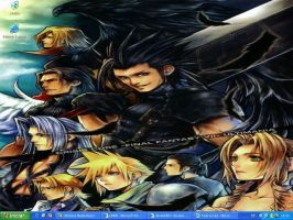 FFVII - Crisis Core Desktop by MajinLu